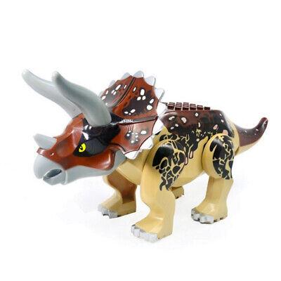 Indominus Triceratops Brown XXL Jurassic Large Dinosaur Building Blocks Fit Lego
