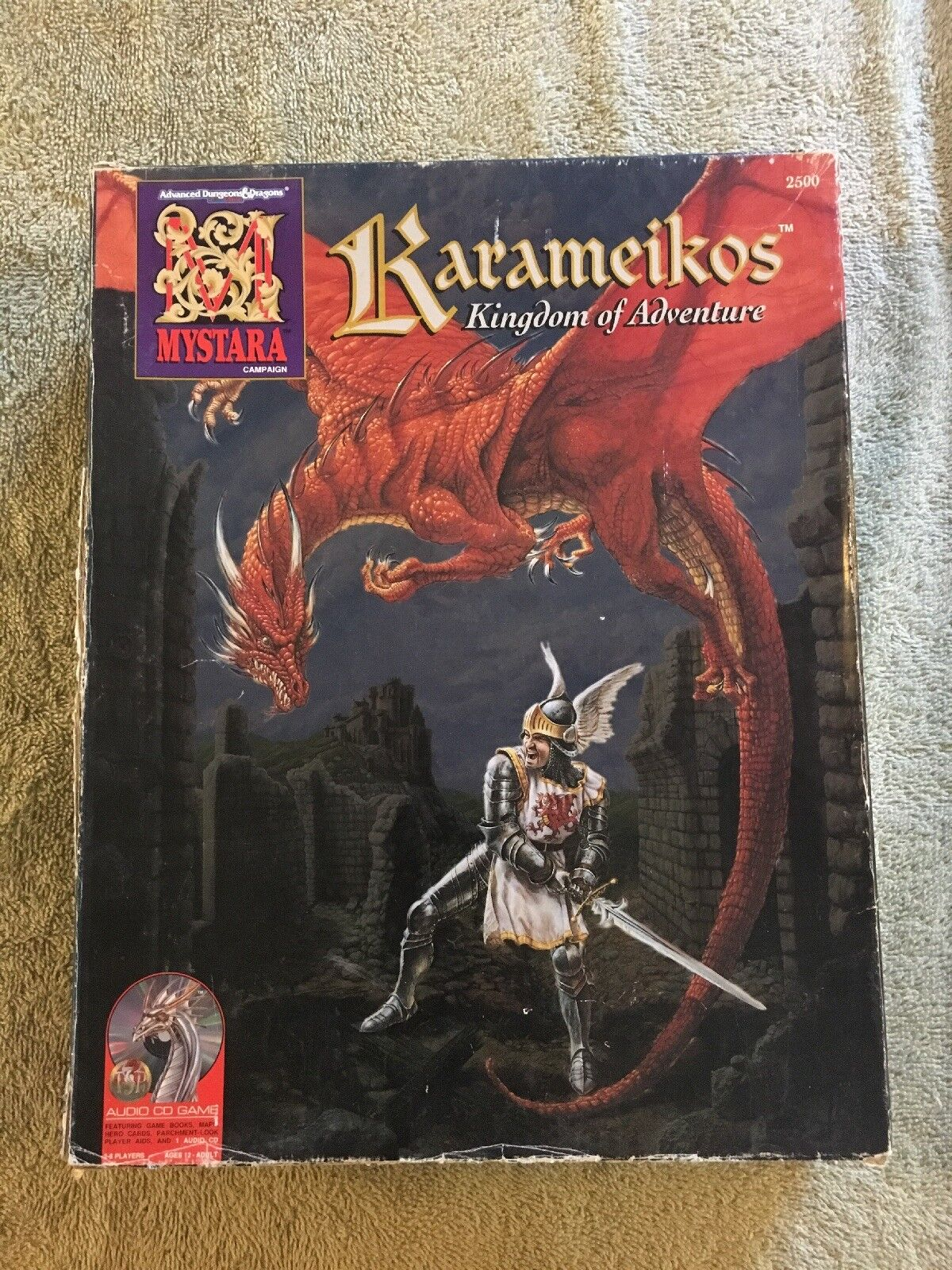 AD&D MYSTARA 2500 KARAMEIKOS KINGDOMS OF ADVENTURE BOX SET COMPLETE w AUDIO CD