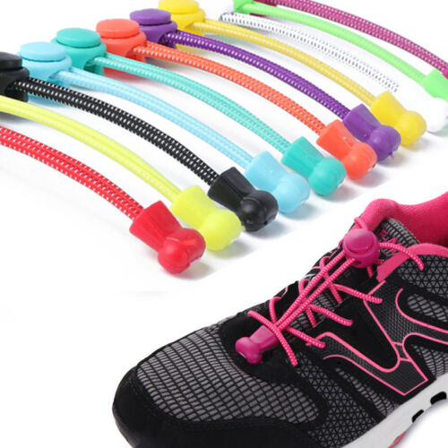 1 Pair Stretching Lace Locking Shoe Laces Elastic Sneaker Shoelaces Shoestrings