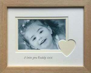 Love You Daddy Heart Picture Frame 9 X 7 Fathers Day Ebay