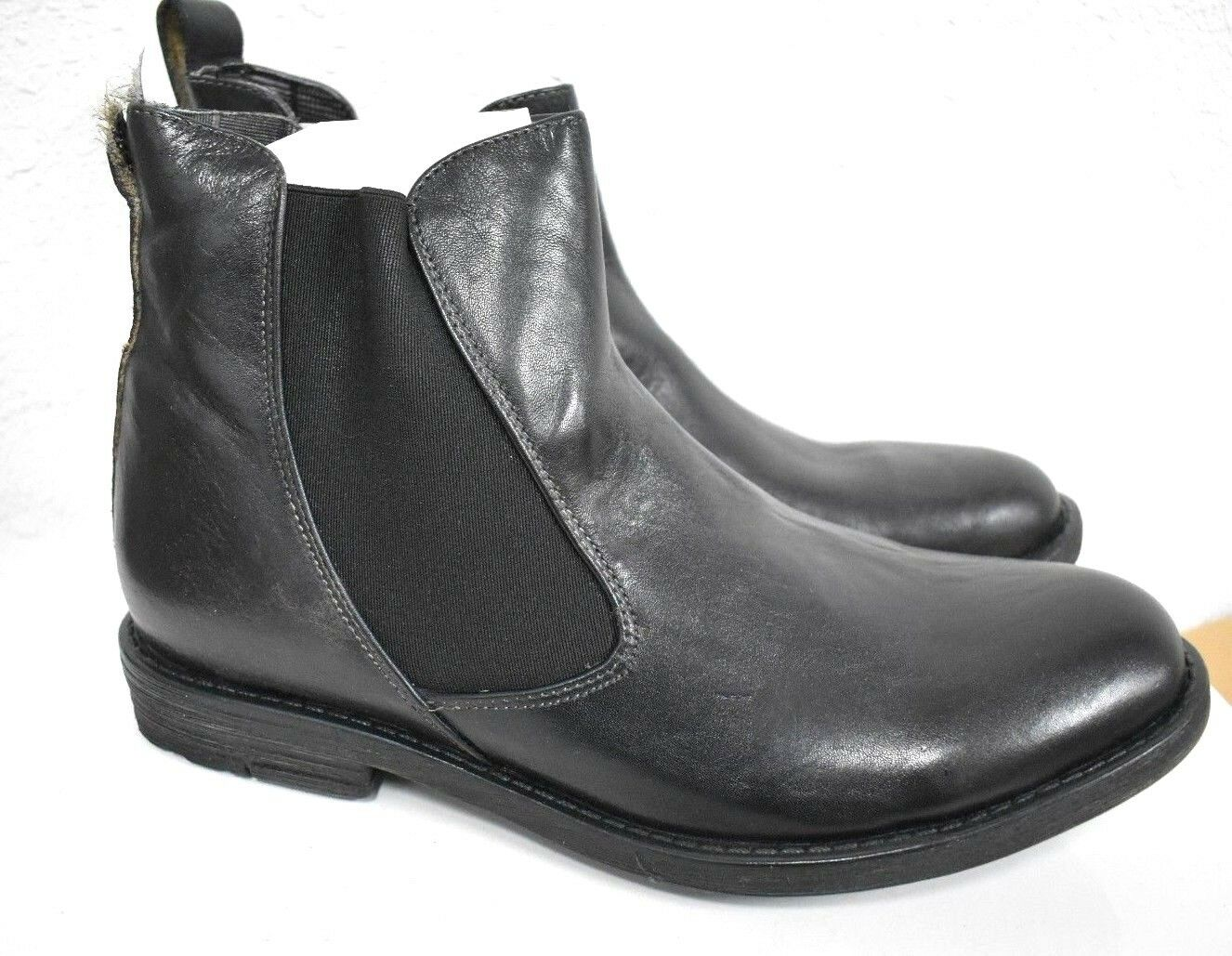 Bed Stu Men's Tribute Black Rustic Leather Chelsea Ankle Boots Booties Size 11