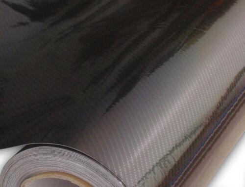 """72/"""" x 60/"""" Gloss 6D Carbon Fiber Black CF Vinyl Car Auto Wrap Sticker Decals Film"""
