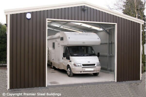 Garage Voor Camper : Premier steel building garage kit camper van metal shed workshop