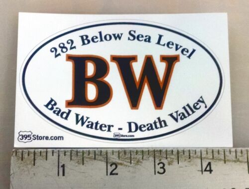 """Bad Water Death Valley ovale autocollant Decal 4.5/""""x2.8/"""""""