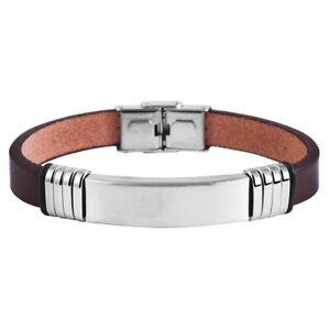 Streng Herren Armband Edelstahl Inkl. Lasergravur - Id251 Duftendes (In) Aroma