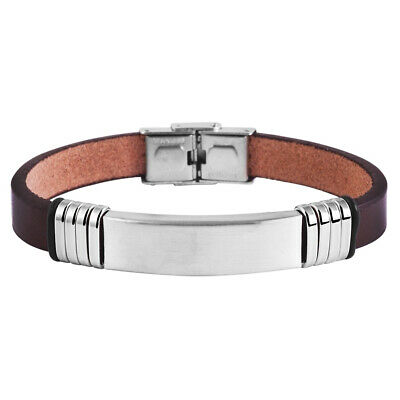 Herren Armband Edelstahl Inkl. Lasergravur - Id251 Bequemes GefüHl