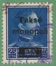 Albania Monopol Customs & Excise Revenue Barefoot #16 used 25Q King 1930 cv $6