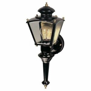 Wall Porch Light Lantern Black Brass Motion Activated Four