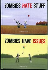 Zombies Have Issues & Zombies Hate Stuff by Greg Stones (2 Books, Like New)