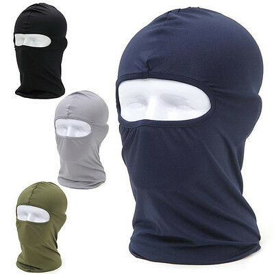 Unisex Ultra-thin Full Face Mask Balaclava Motorcycle Cycling Ski Neck Protector