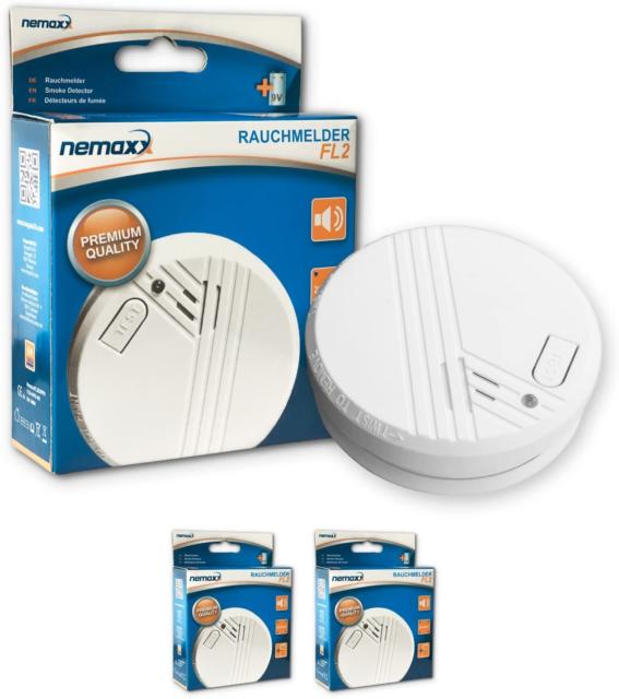 4x Nemaxx WL2 wireless smoke detector