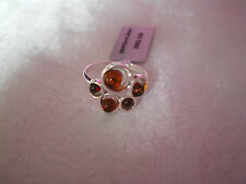 Baltic Amber multi piece ring, Size P/Q, set in 3.5 grams of 925 Sterling Silver