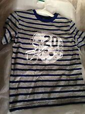 Brand New Circo Top Shirt Striped 8/10 Medium Boys Blue and Gray