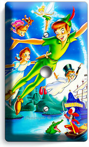 PETER PAN WENDY TINKER BELL NEVERLAND LIGHT SWITCH WALL PLATE OUTLET ROOM DECOR