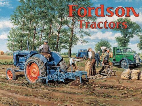 Fordson Tractors Potato Harvest Vintage Faming Medium Metal//Steel Wall Sign
