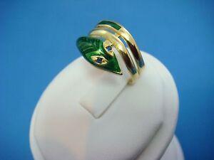 Vintage Snake Ring Pink Moissanite Eyes Black Star Sapphire Egg 14K Gold Size 8.5