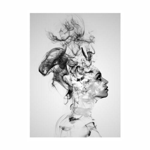Современный холсте печать домой абстрактная черно-белая женщина настенные картины декор