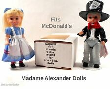 "1 Doz MINI STANDS~ Kaiser #1001 WHITE. 3.5""- 5"" tall McDonald's MADAME ALEXANDER"