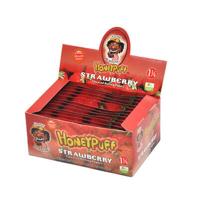 6x HONEYPUFF 1 1//4 Strawberry Flavored Pre Rolled Clear Non Rolling Cones