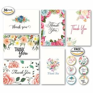 Blank-Floral-Thank-You-Cards-with-Envelopes-and-48-Matching-Stickers