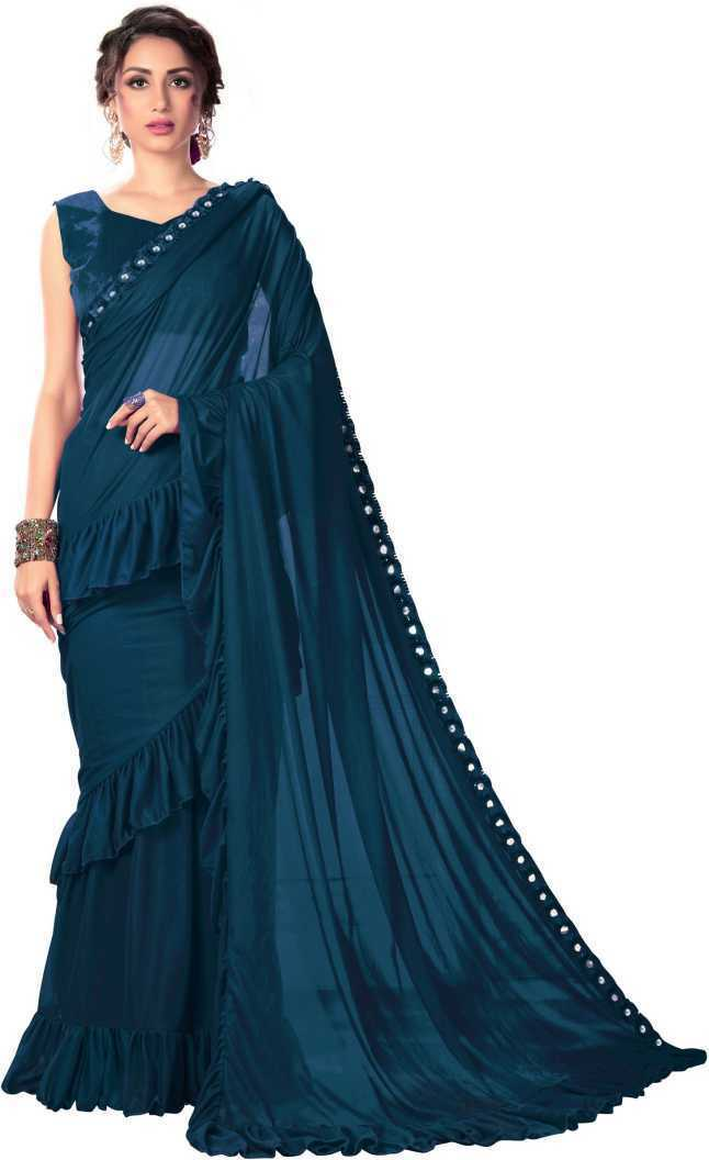 Woven, Embellished Indian Ethnic Wedding Bridal Saree Unstiched Blouse