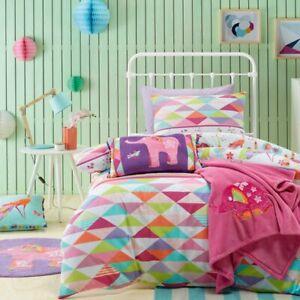 Jiggle-amp-Giggle-Kids-Girls-Peacock-Princess-Doona-Quilt-Cover-Set-Single-Doub