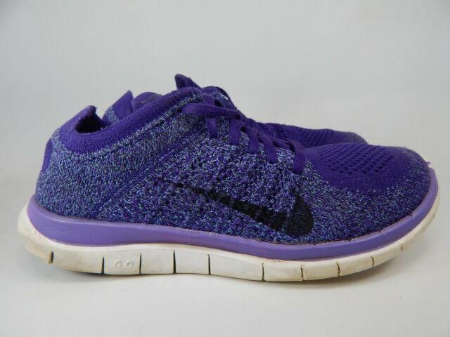 brand new 040df ddc7b Nike Free Flyknit 4.0 Size 8 M (B) EU 39 Women's Running Shoes Purple  631050-500