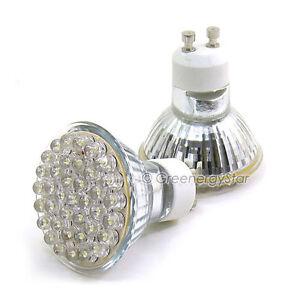 40 x white 38 led spot track light bulb 110v ac gu10 ebay image is loading 40 x white 38 led spot track light aloadofball Image collections