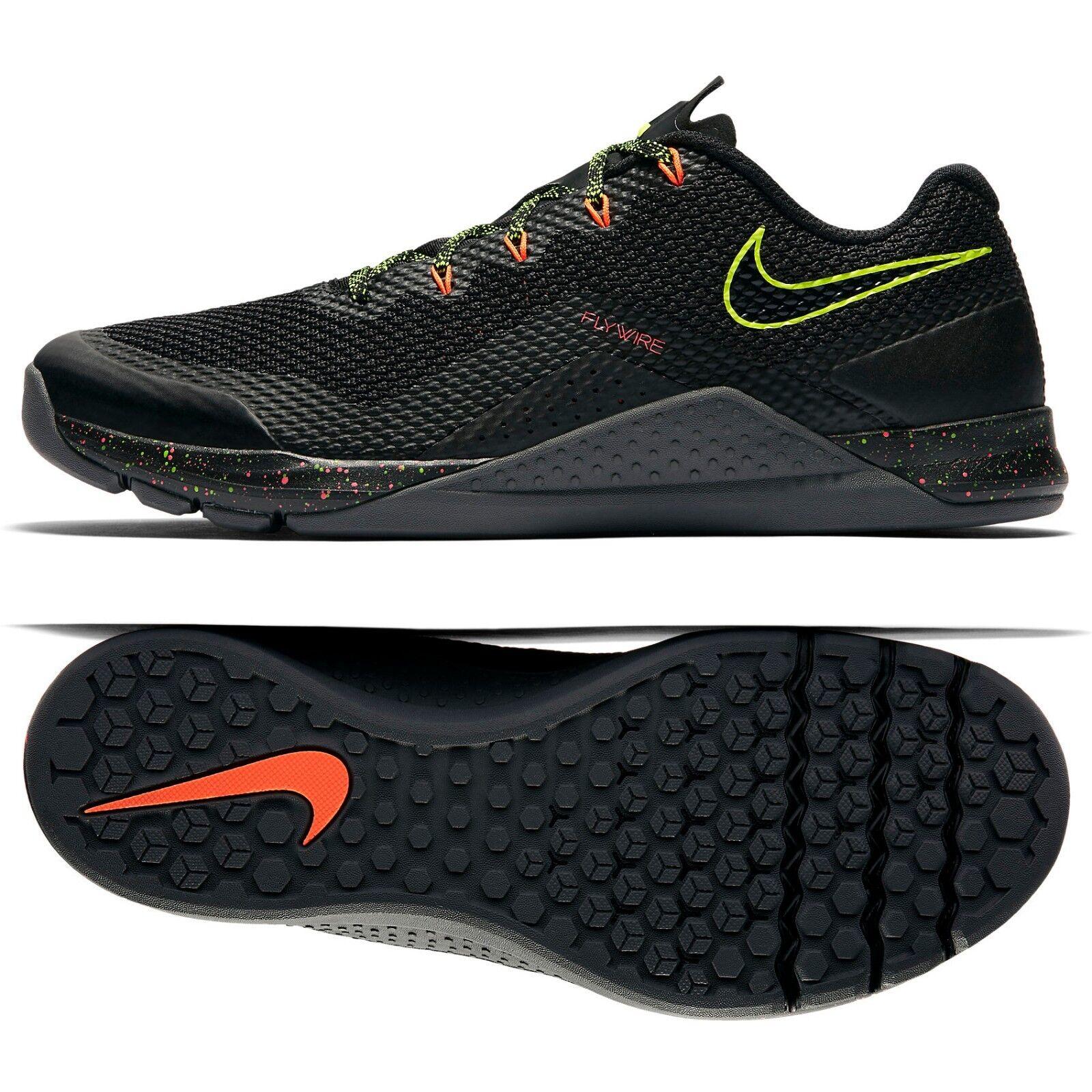Nike metcon repper dsx 898048-007 nero / volt / crimson 10,5 uomini formazione scarpe sz 10,5 crimson 706324
