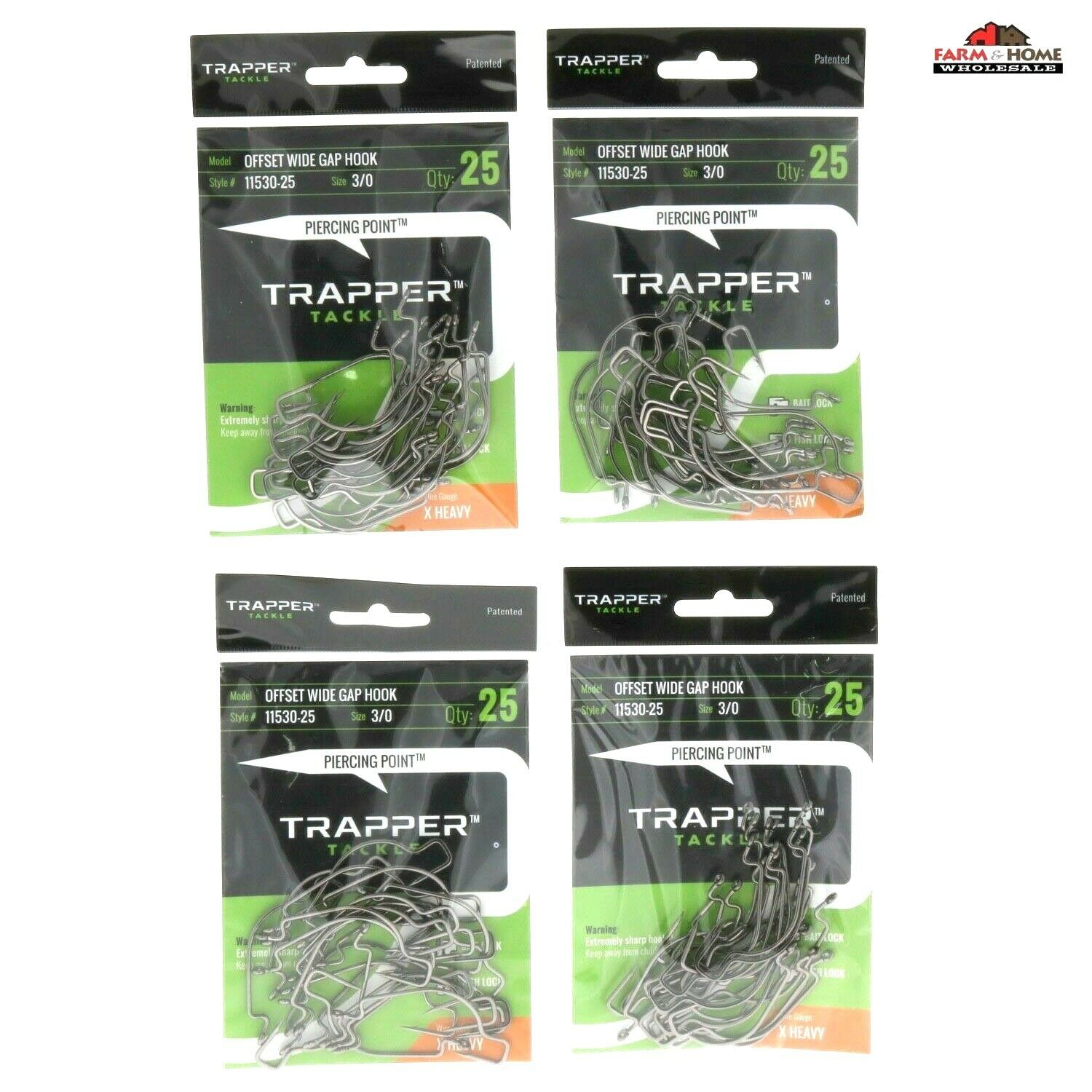 Offset Carbon Steel Wide Gap Hooks  3 0 Fishing Hook 100pcs  New  order now lowest prices