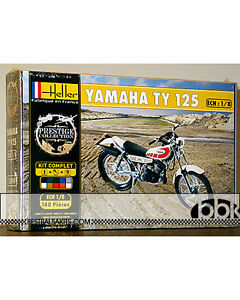 Heller 1 8 Yamaha Ty 125 Ty125 Enduro Bike Model Kit Ebay