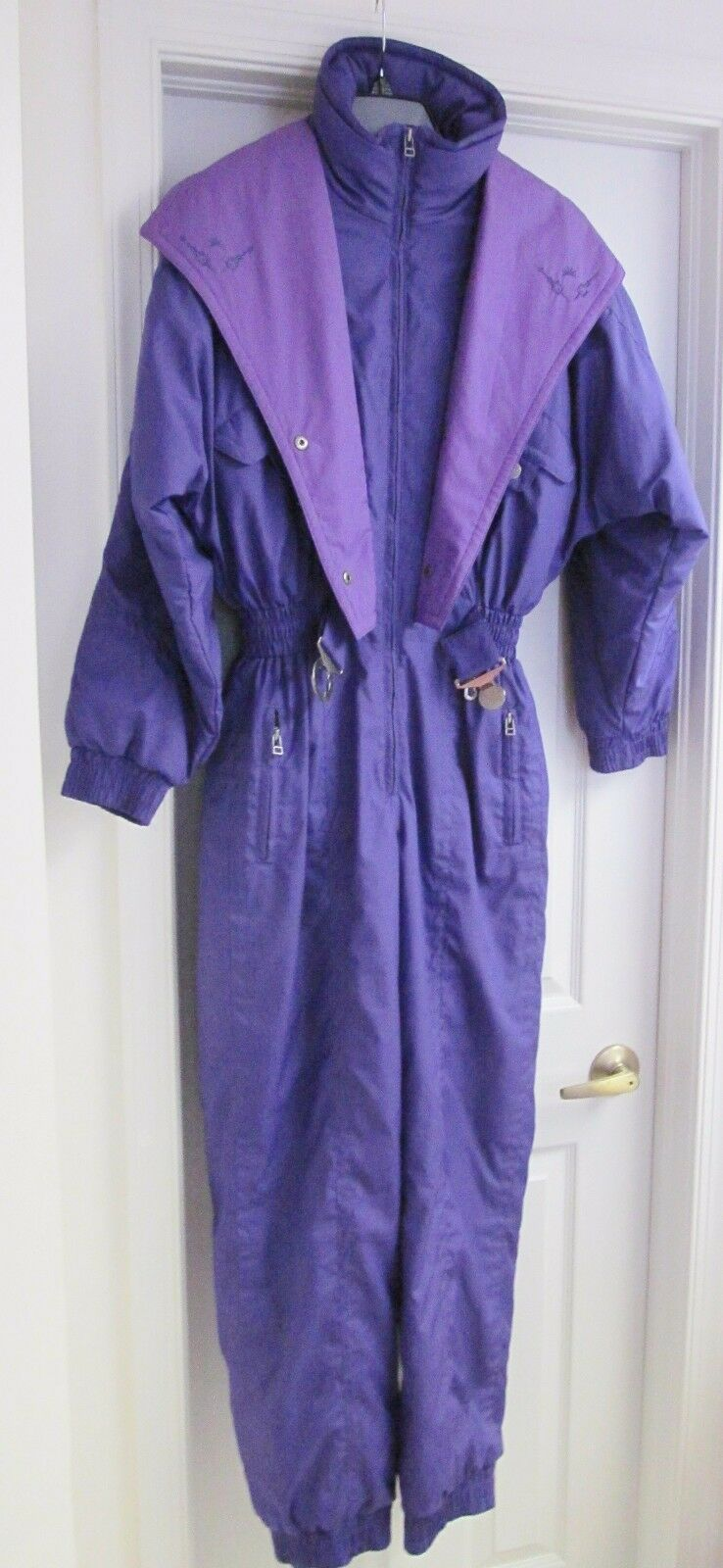 JUPA  SPORTS Women's 1-pc Ski Snowboarding Snow Suit Purple Olympic label Size 8  inexpensive