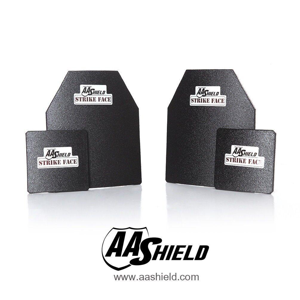 AA Shield Bulletproof  Body Armor Hard Plate Inserts Lvl IIIA 3A 10x12 6x6 Kit