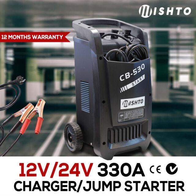 NEW 12v/24v 60A Battery Charger 330A Jump Starter Car ATV Boat Truck Volt Displa