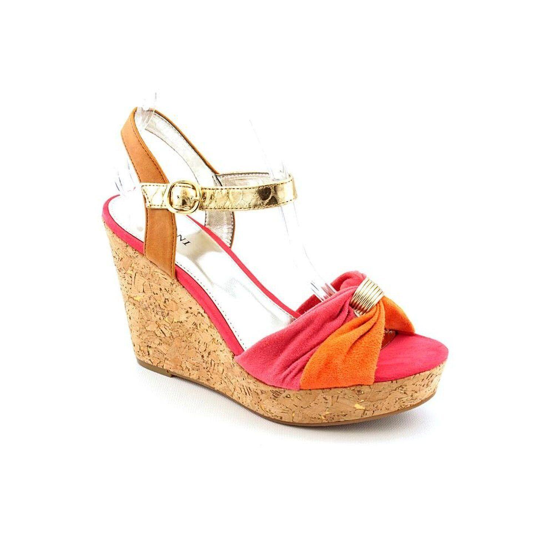 Alfani Jersey Womens Open Toe 10M Wedge Sandals Shoes orange 10M Toe ed1c8a