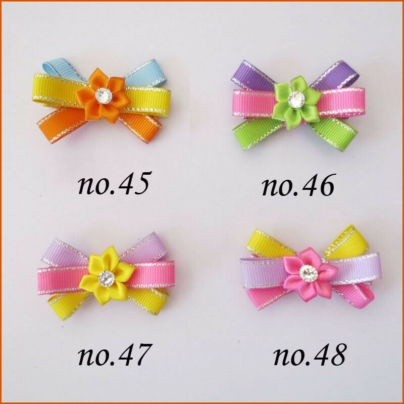 "50 BLESSING Good Girl 2.5/"" Wing Hair Bow Clip Halloween Accessories Wholesale"
