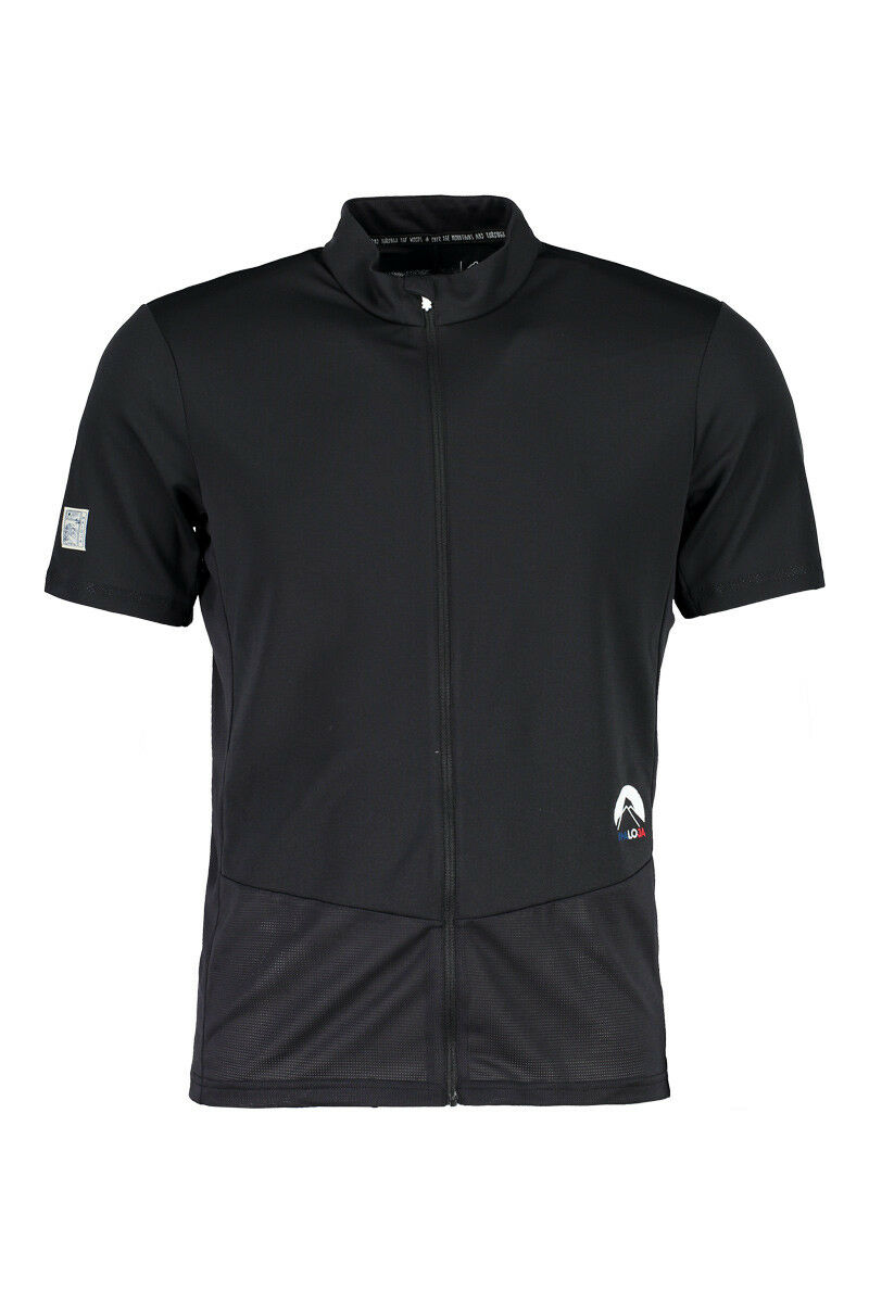 Maloja Cycling Jersey Titusm. 1 2 black Antibacterial uv Predection Pique