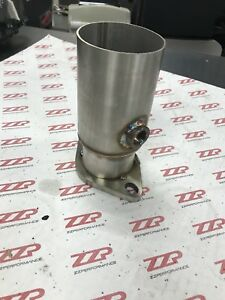 3-034-Stainless-Pipe-to-2-5-034-2-bolt-Flange-Reducer-w-o2-bung-Downpipe-Exhaust