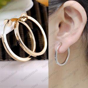 Gold hoop earrings rings 2.5 cm