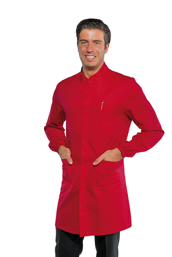 SHIRTS DOVER MAN RED LONG SLEEVE ISACCO butcher SHOP COAT BUTCHER salumier
