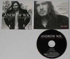 Andrew WK  Specialty Radio Sampler  2002 U.S. promo cd  hard-to-find