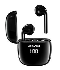 Awei T28P TWS Bluetooth Earphones Wireless Earbuds Waterproof LED Display Touch