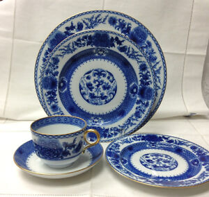 Image is loading MOTTAHEDEH-IMPERIAL-BLUE-5-PIECE-PLACE-SETTING-PORCELAIN- & MOTTAHEDEH IMPERIAL BLUE 5 PIECE PLACE SETTING PORCELAIN BRAND NEW ...