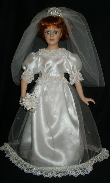 Hecho A Mano Victoriana Muñeca De Novia Vestido De Novia.... exclusivamente por especial Creations