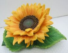 LENOX SUNFLOWER Garden Flower Sculpture NEW in BOX with COA 2002