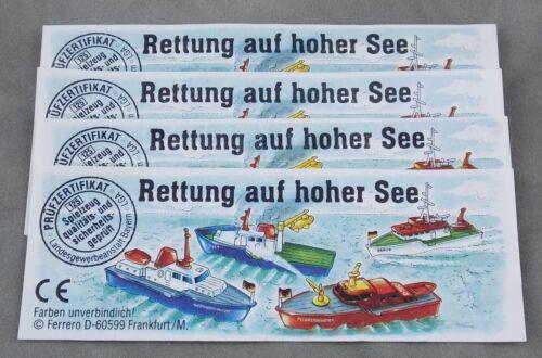 Satz Beipackzettel Rettung auf hoher See 1995 UeEi Schiffe Überraschungsei