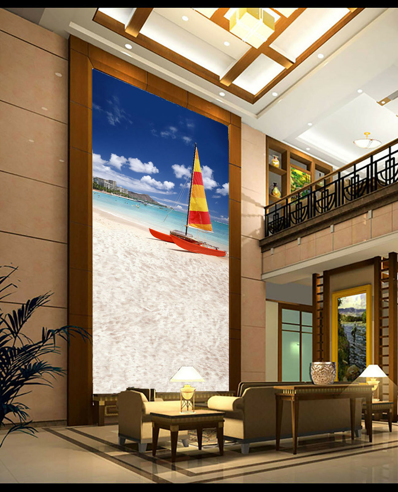 3D Beach  Sailing 83 Wall Paper Murals Wall Print Wall Wallpaper Mural AU Kyra