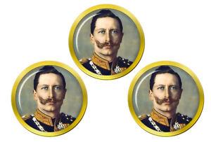 Kaiser-Wilhelm-II-Marqueurs-de-Balles-de-Golf