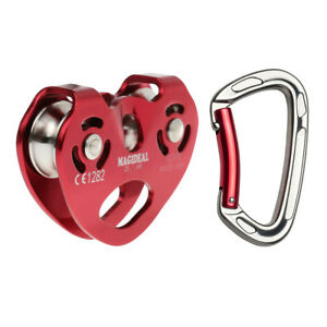 Prettyia 24KN Aerial Rock Climbing Zip Line Rope Wire Cable Trolley Pulley
