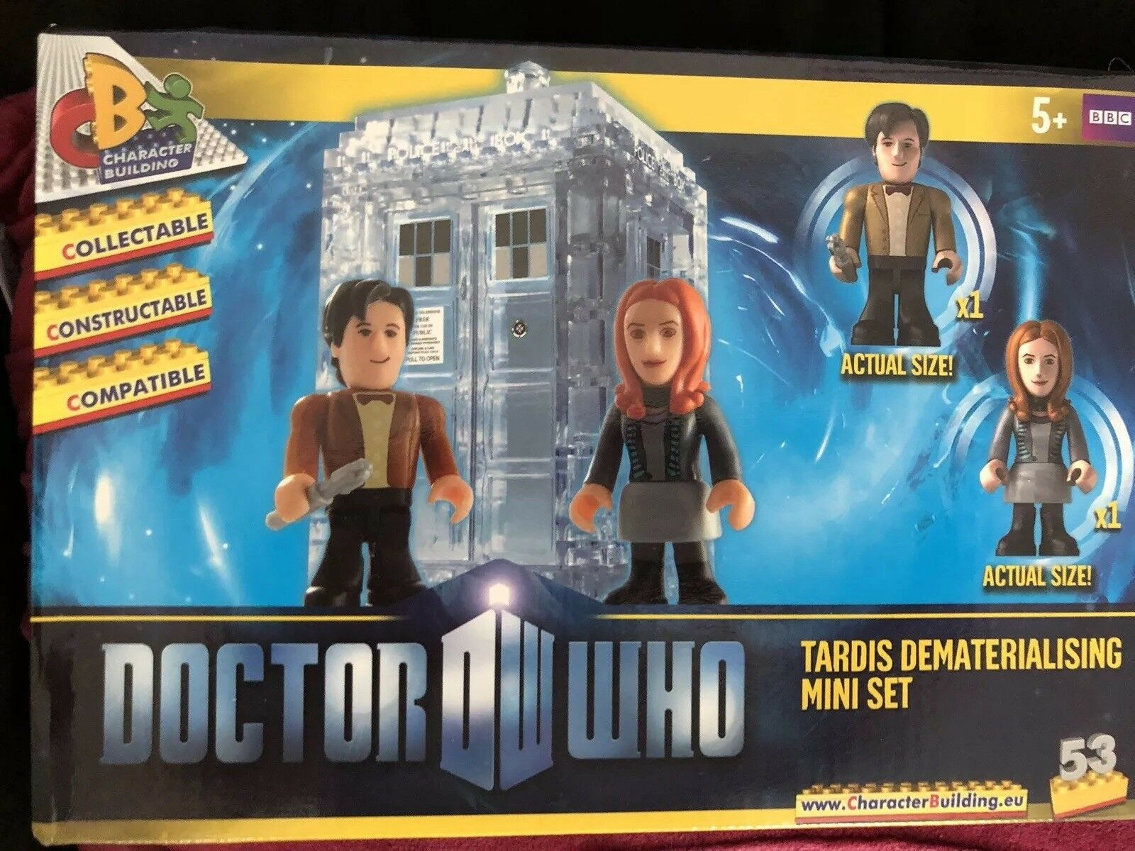 Doctor who  character building   Tardis Dematerialising mini set